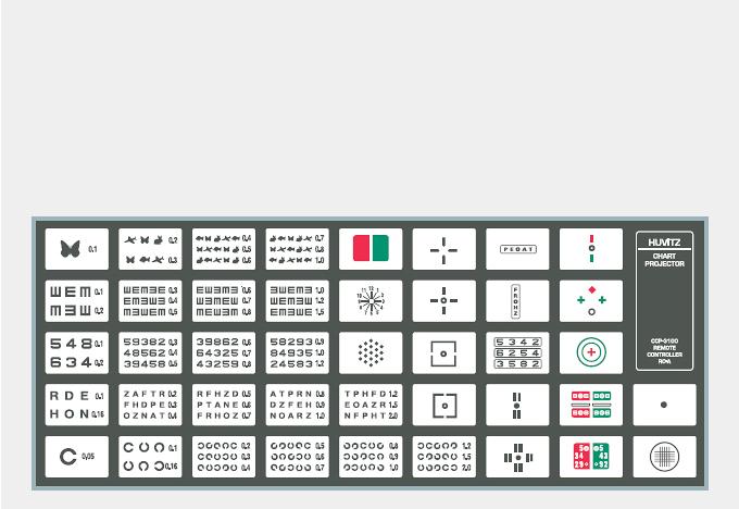 Таблицы оптотипов